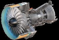 Turbina de un avion