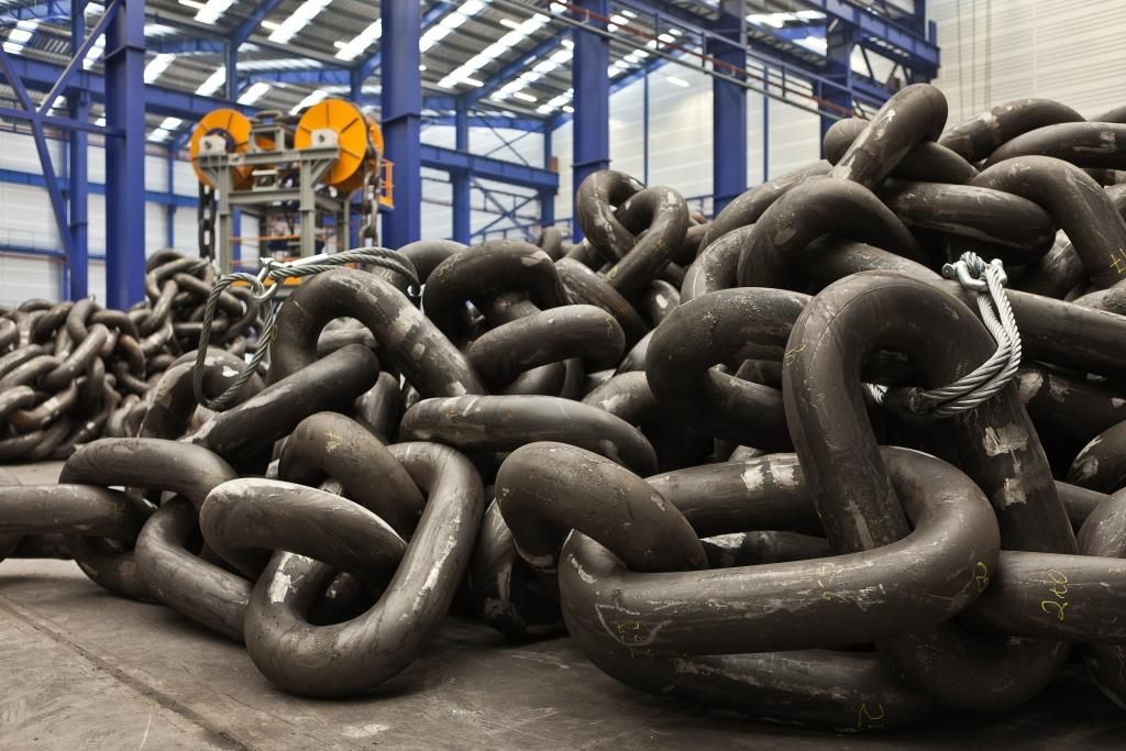 Vicinay Marine Group's anchor chains