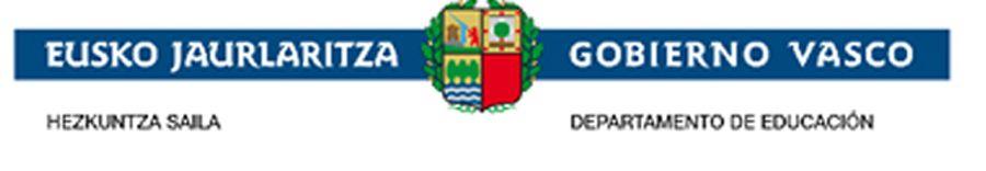 Gobierno vasco educación
