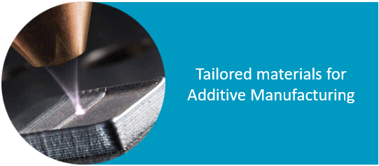 Tailored materials for additive manufacturing